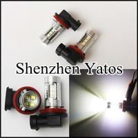2pcs 60W h8 led cree high power white light led car new auto lamp bulb 12V
