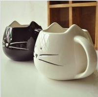 drinkware Zakka Iotion cup cat black and white animal cup glass ceramic lovers mug cup mug teapot mug