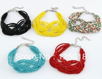 12Pcs/Lot Temperament Simple 8 Figures Compiled Handmade Beads Bracelet