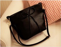 Brand Bow Women messenger High end PU Leather Bags OL Temperament Korean fashion handbags