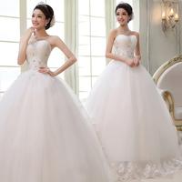 Fashion tube top bandage princess dress the bride married diamond decoration wedding dress 2013 002