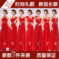 Pregnantwith 2013 oblique long slim design red evening dress bridal evening dress sisters dress