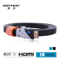 VENTION!Black Color HDMI Cable 10M  Gold Plated Connection V1.4 HD 1080P TV Cable  Computer cables