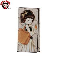 Betty BETTY cartoon long design female wallet a4078-11-21 shallowly beige