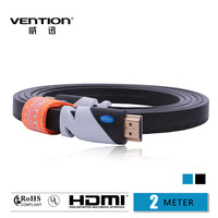 VENTION!Black Color HDMI Cable 2M  Gold Plated Connection V1.4 HD 1080P TV Cable  Computer cables