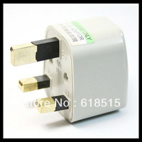 Wholesales US/EU/UK to UK AC Power Plug Travel Converter Adapte White