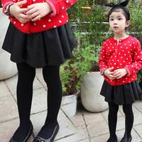 2014 autumn and winter all-match girls clothing child short skirt a-line skirt leather skirt bust skirt qz-1139  sxl