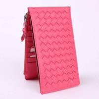 2013 long design knitted women's multi card holder card holder lovers vintage multifunctional clip wallet