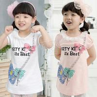 2014 summer messenger bag girls clothing baby child short-sleeve dress bust skirt qz-0585  sxl