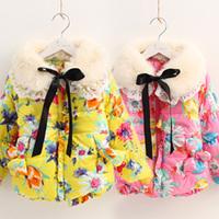 2014 winter flower girls clothing baby child thickening cotton-padded jacket cotton-padded jacket wadded jacket wt-2281  sxl