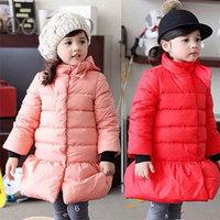 2014 winter bow girls clothing child thickening windproof cotton-padded jacket wadded jacket cotton-padded jacket wt-2196  sxl