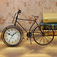 Gift small gift desk decoration bicycle clock desk clock home decoration crafts