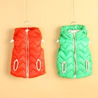 2014 winter wave girls clothing child thickening cotton vest vest wt-2157  sxl