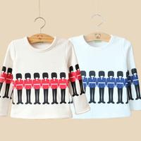 2014 winter boys clothing girls clothing child thickening t-shirt basic shirt tx-2396  sxl