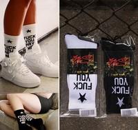 Free Shipping Ssur fuck you pay me socks skateboard socks men and women socks knee-high thick thread
