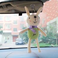 Rabbit chuck plush doll car decoration pendant car furnishing articles decoration auto supplies