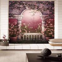 stickers art Tv background wallpaper landsides three-dimensional large murals 3d tv wall  home decor