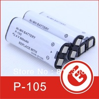500Pcs Wholesale P105 Cordless phone battery NI-MH 2.4v Battery Pack HHRP105A HHR-P105A for Panasonic High Quality