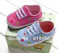 kids comfortable Casual shoes baby girls & boys rubber soled shoes Dot canvas children sneakers