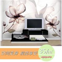 wall stickers art 3d three-dimensional dream butterfly flower mural wallpaper sofa tv  home decor