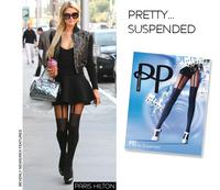 Women Stocking Designer Brand Mock Suspender Tights