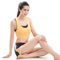 Yoga clothes fashion tube top sports underwear fitness clothing yoga set belt pad