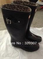 Brand women  Rain Boots Waterproof  Wellies fashion rain boots for women