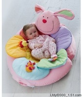 Pink color Lovely Inflatable Baby Seat Play Mat Game Pad Soft Sofa Animal Flower Pattern