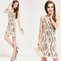 new 2013 fashion woman brand high quality embroidery evening dress,party dress, women clothing,dresses new fashion 2013