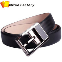 Men Western Leather Belt Pin Buckle Vintage Brown Genuine Steel Strong defense of  Man Designer Strap Bossanjearsu