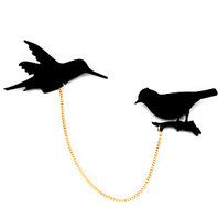 3pcs Birds Korea retro brooch chain accessories women girl gifts wholesale fashion jewelry