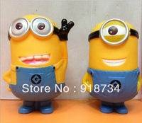 On Sale !!! Cartoon Despicable Me 3D Eye Minions Figure PVC Action Toy Children toy Free Shipping