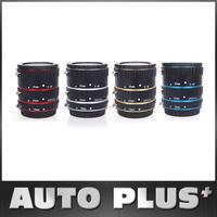 Colorful Metal TTL Auto Focus AF Macro Extension Tube Ring for Canon EOS EF EF-S 60D 7D 5D II 550D Red