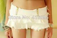 Sexy Girls Denim Shorts Fringed Pantskirt Hot Pants Sexy Culottes Tassels Mini Skirt Shorts Low Waist 12220213