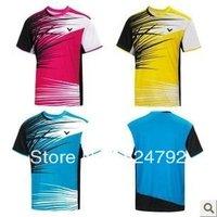 wholesale!New 2013 South Korea Victory men's table tennis clothing / Badminton T-shirt Free shipping