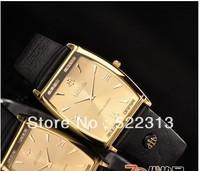 LOBOR Men quartz elegant business watch waterproof rectangle surface leather watches LB170M