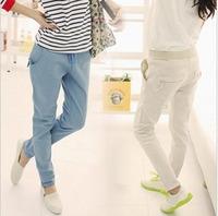 Fashion  women's trousers  new cotton fashion leisure Slim loose high waisted Harem jeans pants