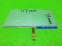 Original new 5inch touch panel TP,Universal GPS 4-wire resistive touch panel,117mm*73mm ,free shipping