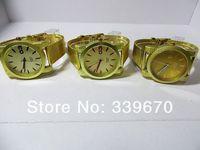Fashion Watch women Wristwatches Ladies Dress Watch gold Watch Quartz Steel Watches Luxury TOP Quality free shipping 100pcs