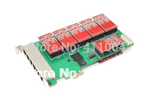 elastix 24ports fxo card voip fxo geteway digium 24 ports fxo fxs card tdm2400p(China (Mainland))