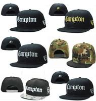 Poppin hip-hop compton snapback cap adjustable baseball cap hiphop flat brim hat  free  shipping