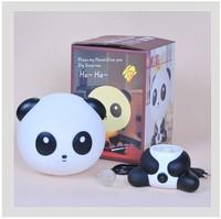 Lovely Cartoon Panda Novelty Lamp/Energy-Saving Creative Small Night Lamp/Insert Electric Panda Shape Lamp Free Shipping
