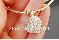 SL036 Min.order Is $10(mix order)Free Shipping Fashion elegant rhinestone heart-shape bracelet jewelry Wholesale