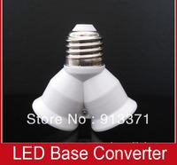 Wholesale Cheap Promotion 20pcs e27 to 2*e27 led lamp base converter 1 to 2 extend base for spot lights lamps diy extension