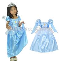 Free shipping beautiful blue Cinderella Skirt Princess/ Halloween Costumes fancy dress /Party costumes