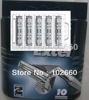 (10pcs/lot) Free Shipping! Grade AAA Sensor Excel Razor Blades For Man Shaving with RUSSIA & EU versions