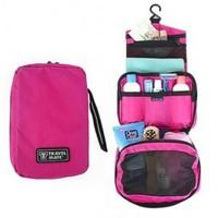 Free Shipping Waterproof Cosmetic Bag Cheap Big Capacity Travelling Wash Bag,Hanging Toiletry Kit,4 Color Make Up Bag