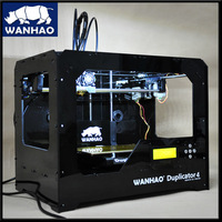 ABS PLA available FDM household style cheapest top selling rapid prototyping dual-extruder wanhao 3D Printer