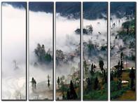 Huge Canvas Prints Realist Modern Village Landscape Painting Picture Printed On Canvas Fine Art Home Decor Wall Art SJ(955)