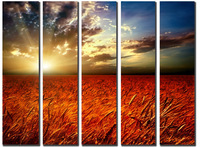 Huge Canvas Prints Realist Modern Wheat Landscape Painting Picture Printed On Canvas Fine Art Home Decor Wall Art SJ(965)